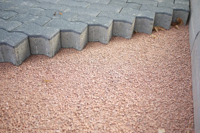 Pavers on gravel base